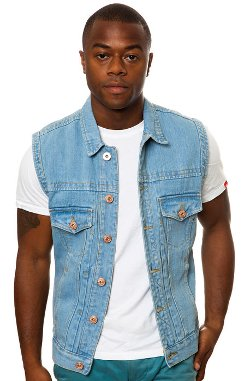 Bellfield  - Stone Wash Denim Vest