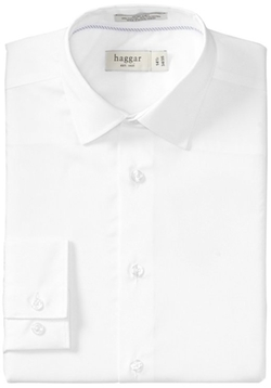 Haggar - Solid Long-Sleeve Dress Shirt
