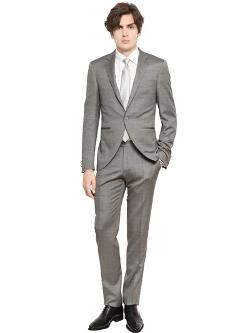 Canali  - Wool & Silk Blend Short Tight Shape Suit