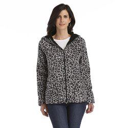 Laura Scott  - Leopard Print Reversible Hoodie Jacket