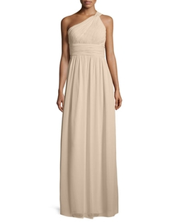 Donna Morgan  - One-Shoulder Ruched Gown