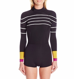 Cynthia Rowley - Stripe and Colorblock Wetsuit
