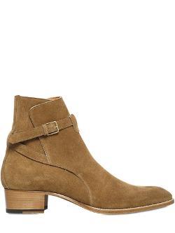 Saint Laurent  - 40mm Wyatt Belted Suede Boots