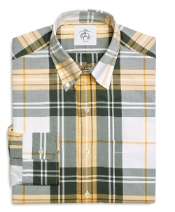 Brooks Brothers  - Plaid Oxford Button-Down Shirt