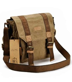 ZLYC - Casual Canvas Leather Messenger Bag