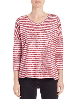 Lord & Taylor - Striped Knit Dolman Top