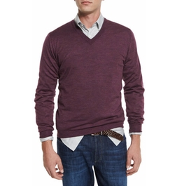 Brunello Cucinelli - Fine-Gauge V-Neck Sweater