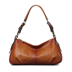 Kattee - Vintage Leather Hobo Shoulder Handbag
