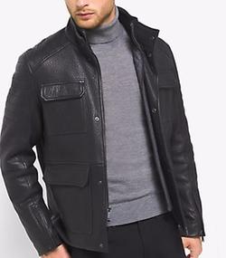 Michael Kors Mens - Leather Moto Jacket