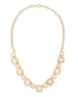 Lee Angel - Clear Crystal Collar Necklace