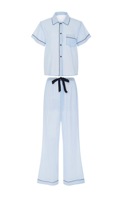 Morgan Lane  - Cotton Short Sleeved Pajama Set With Eyelet Trim