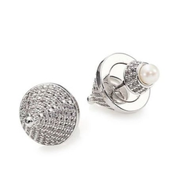 Eddie Borgo - Pearl & Crystal Cone Double-Sided Earrings
