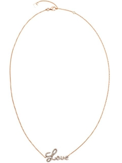 Rosa De La Cruz - Rose Gold And Diamond Love Necklace