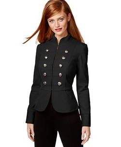 Inc International Concepts - Cutaway Military Jacket