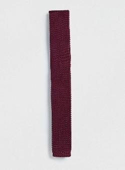 Topman - Burgundy Knitted Tie