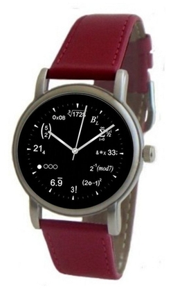 "Math Time - ""Math Dial"" Leather Strap Watch"