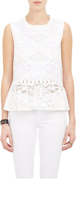 Sea - Tribal Lace Peplum Top
