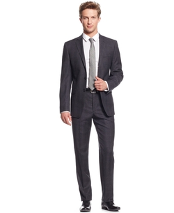 Calvin Klein - Plaid Flannel Slim-Fit Suit