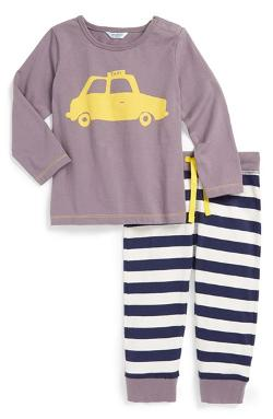 Mini Boden  - Play Set Cotton Top & Pants