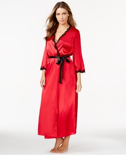 Linea Donatella - Satin And Lace Robe