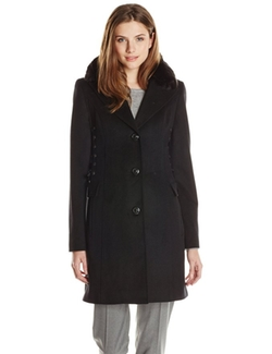 Betsey Johnson - Single-Breasted Wool-Blend Coat
