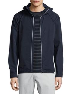 Theory  - Deaver Hooded Nylon Utility Jacket