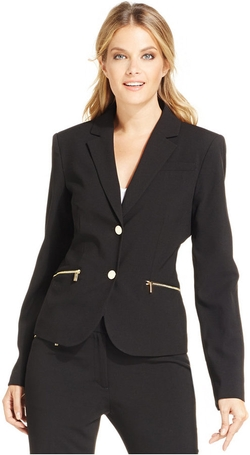Calvin Klein - Zipper-Pocket Blazer