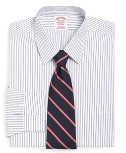 Brooks Brothers - Non-Iron Traditional Fit Pencil Stripe Dress Shirt