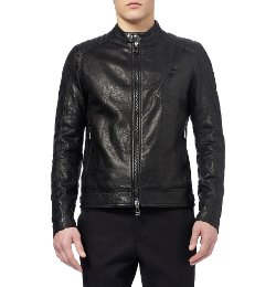 Belstaff - Kirkham Tumbled-Leather Jacket