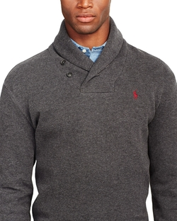 Polo Ralph Lauren - French-Rib Shawl Sweater