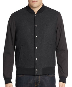 Original Penguin - Wool-Blend Bomber Jacket