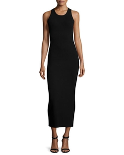 Halston Heritage  - Sleeveless Maxi Sweater Dress