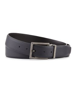 Giorgio Armani - Reversible Grain-Leather Belt
