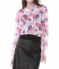 Zuri Zuri By Flora - Floral Printed Button-Up Shirt