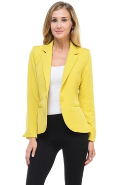 Auliné Collection - Candy Color Lined Blazer