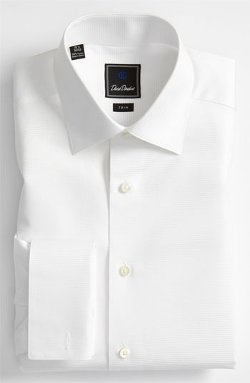 David Donahue  - Horizontal Twill Trim Fit Tuxedo Shirt