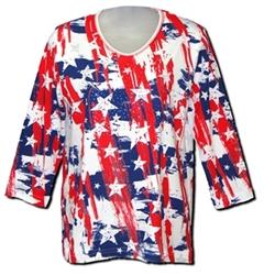 Theflagshirt - Ladies Abstract American Flag Shirt
