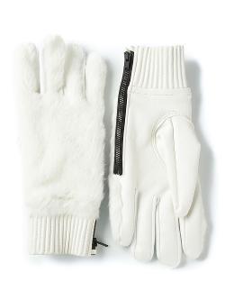 Ktz - Faux Fur Panel Gloves