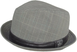 "Christys  - Crown ""Sal"" Plaid Snap Brim Fedora Hat"