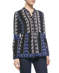 12th Street by Cynthia Vincent	  - Printed Lantern-Sleeve Blouse