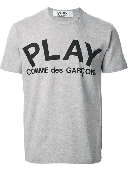 Comme Des Garçons Play - Logo Print T-Shirt