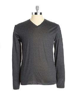 HUGO BOSS  - V-Neck Long Sleeve Shirt