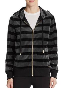 Calvin Klein  - Striped Velour Hoodie