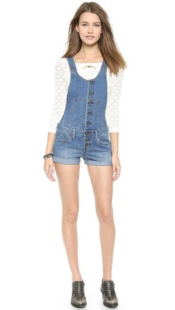 Free People  - Century Button Front Shortalls