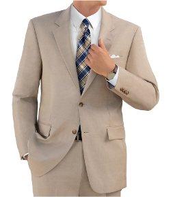 Jos. A. Bank - Tropical Blend 2 Button Tic Weave Suit