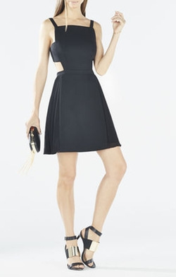 BCBGMAXAZRIA - Brielle Open-Back Side-Pleated Dress