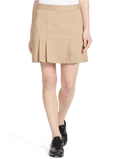 Ralph Lauren - Pleated Cotton-Blend Skort
