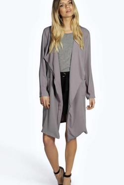Boohoo  - Isabella Longline Lightweight Trench Coat