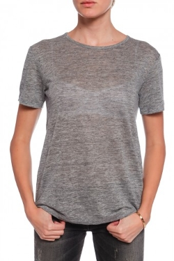 T by Alexander Wang  - Short Sleeve Crew Neck Tee Shirt
