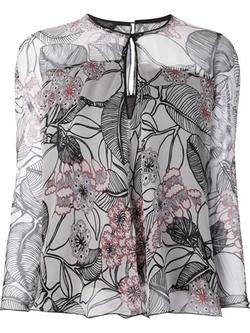 Giambattista Valli - Keyhole Floral Print Blouse